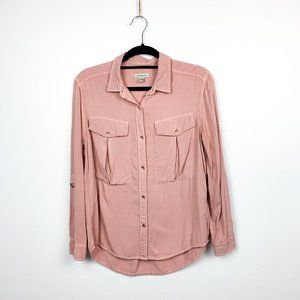 Calvin Klein Jeans Pink Long Sleeve Button-Up